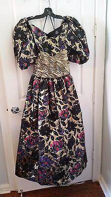 Floral Taft (Rose Taft Floral Evening Gown - Size S)