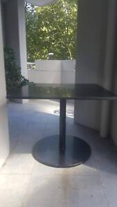 Matte black marble square indoor/outdoor table