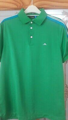 J Lindeberg Mens Green Golf Top Size Small