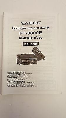MANUALE IN ITALIANO ORIGINALE  istruzioni d'uso per YAESU FT-8800 segunda mano  Embacar hacia Spain