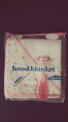 Vintage TYDEE-TOT Knit Terry Infant Baby Hood Bath Towel Blanket - New Original