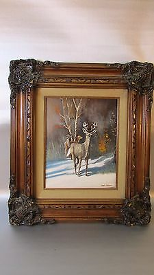 Russ Marwin Original Oil Painting Identifying The Unknown   Framed Signed