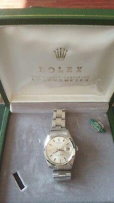 VINTAGE 1966 MEN'S ROLEX 1500 Oyster Perpetual Superlative Chronometer Certified
