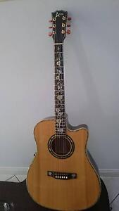 New custom made cutaway acoustic electric guitar abalone inlays Carindale Brisbane South East Preview
