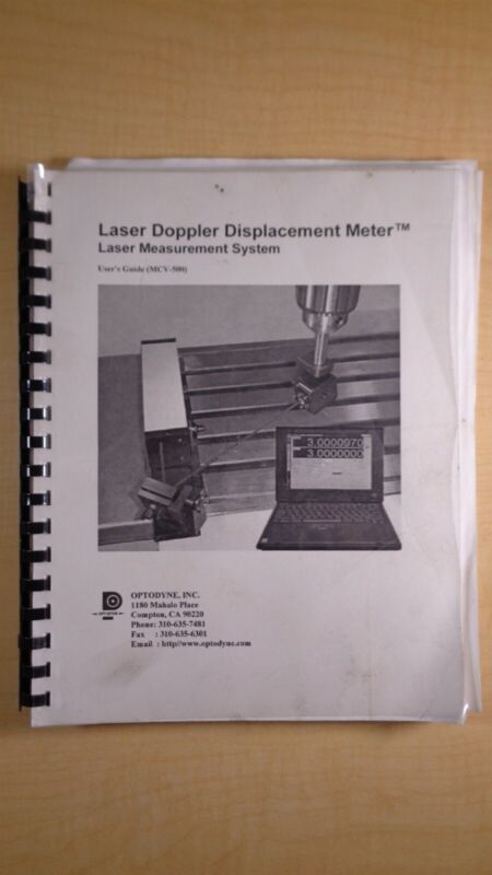 Optodyne Laser Doppler Displacement Meter Application Appendix Manual 8F B4