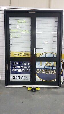 Aluminium Door Entry 2300H x 1710W (Item 5091) Black