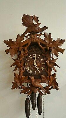 antique Black forest cuckoo quail clock 1800s