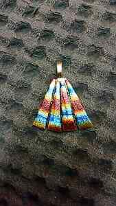 Handmade dichotic rainbow glass fan pendant Highland Park Gold Coast City Preview