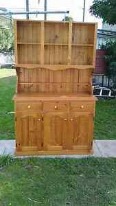 Pine display cabinet cupboard Woonona Wollongong Area Preview