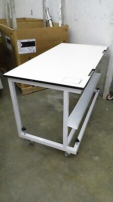 "30"" X 60"" X 35"" TALL LAMINATE TOP ADJUSTABLE HEIGHT LABORATORY WORK BENCH/TABLE for sale  Madawaska"
