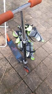 2 pair of roller shoes and scate bord 15$