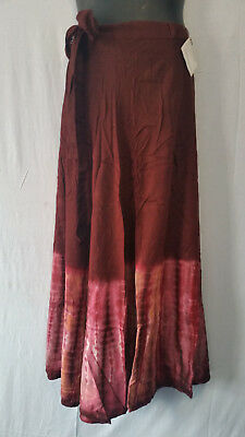 Women Tie Dye Long Wrap around Skirt Dress Beach Sarong Rayon P#219 Free Size