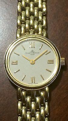 Baume Mercier 14K Gold Women's Ladies Swiss Watch Bracelet Wristwatch Geneve