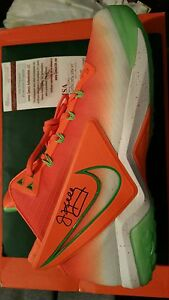 jim-kelly-signed-miami-u-field-general-shoe