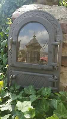 Cast Iron Fire Foor Clay Bread Oven Doors Pizza Stove Rounded