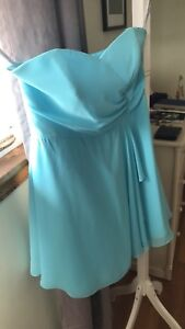 Alfred Angelo box blue bridesmaid dress size 16/14