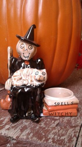 Yankee Candle 2018 Halloween Boney Bunch Witch Kitty Spells Witchy Candle Holder