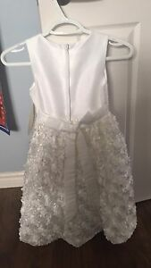 Brand New girl's size 7 White formal dress