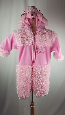 Baby Toddler Girls 2T WARM PINK POODLE COSTUME w/ Hood Adorable EUC (Warm Toddler Costumes)