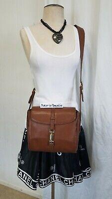 Vintage Gucci Crossbody Bag Purse Italian Leather Piston Lock Quality Made 80s