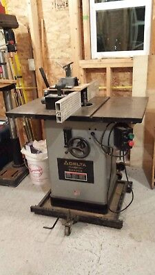 Delta Platinum Edition Woodworking Shaper In Excellent Shape 220 Single Phase