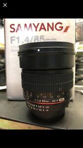 Samyang 85mm f1.4 Nikon mount