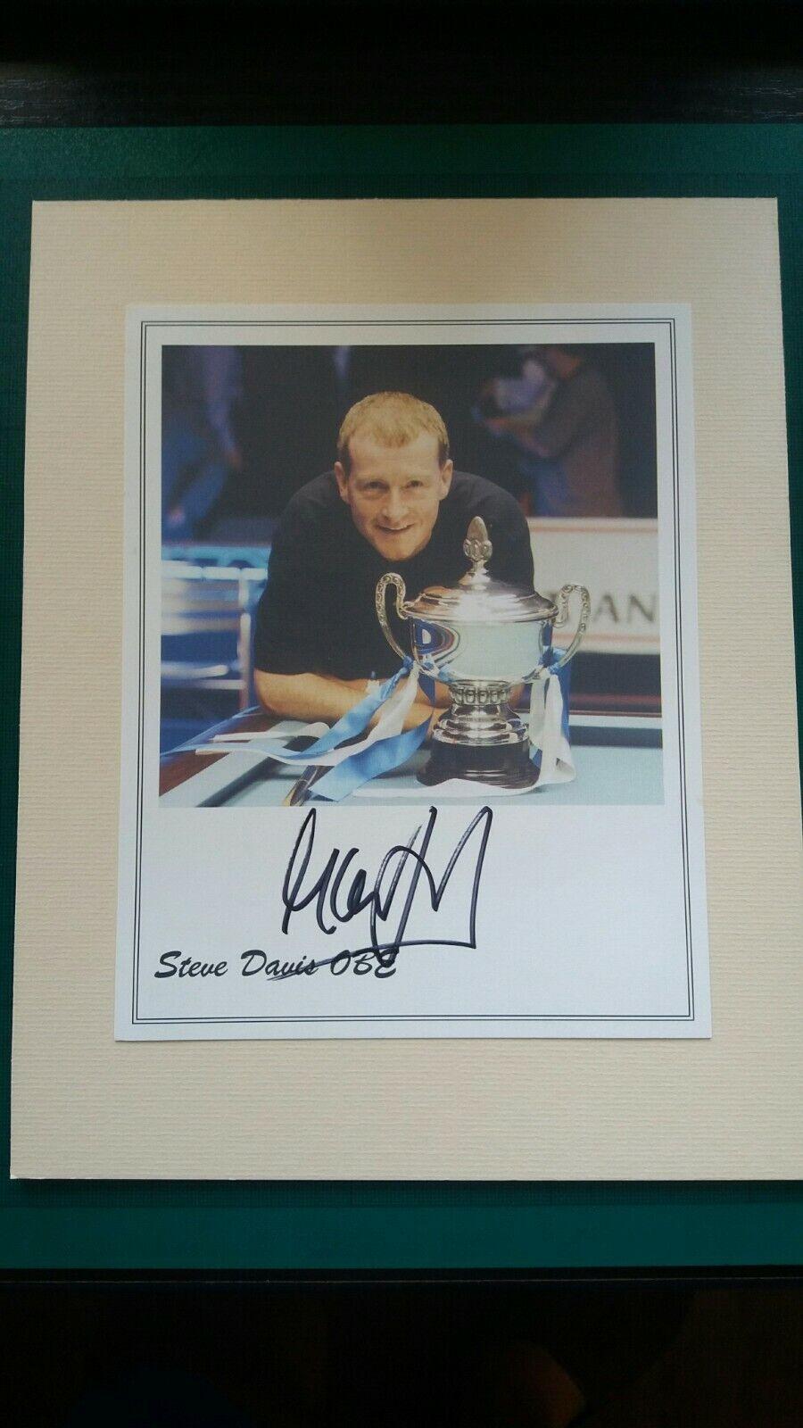 HAND SIGNED 7x5 PROMO CARD  - Steve DAVIS - SNOOKER World Champion