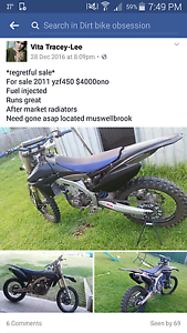 Yzf450 2011 model Muswellbrook Muswellbrook Area Preview