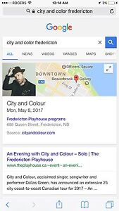 LOOKING FOR CITY AND COLOUR TICKETS may 8th