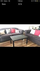 2 comfortable sofas + coffee table Melbourne CBD Melbourne City Preview
