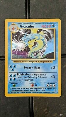 POKEMON Base Set GYARADOS  CCG Card 6/102 - HOLO - NEVER PLAYED / Near Mint