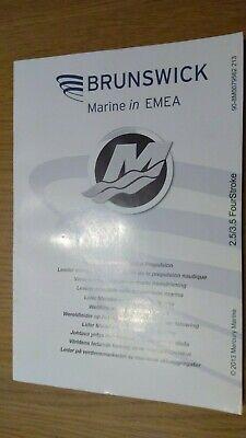 Owners manual handbook for Mercury Mariner 2.5 & 3.5hp 4-stroke outboard motor