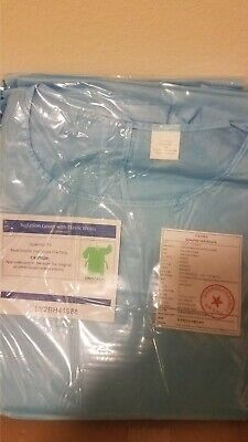 10 Piece Medical Dental Isolation Gowns Disposable Elastic Cuffs Universal Size