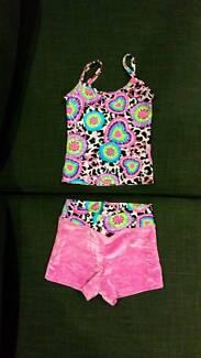 Girls Gymnastics Singlet & Shorts *Leotard Crop
