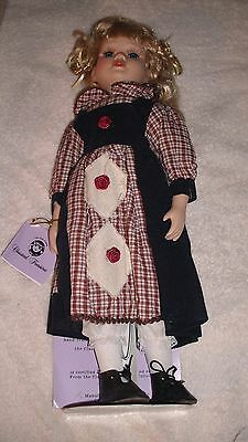 New Classic Treasures 16 Inch Porcelain Collector Doll With Stand