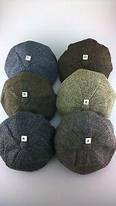 Genuine Harris Tweed 8 Panel Baker Boy 6 Tweeds M,L,XL,XXL Peaky Blinders