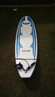 """Near new Epoxy 7'4"""" Mal Surfboard with legrope and cover. Twin Waters Maroochydore Area Preview"""