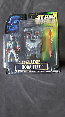 Star Wars Deluxe Boba Fett with Wing-Blast Rocketpack - 1996 - NEU ()
