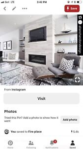 Bedroom set with fireplace