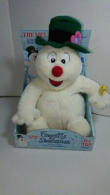 GEMMY1998 Frosty The Snowman Animated Music Plush lighted cheek RARE HTF
