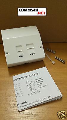 Telephone VDSL2/ADSL Broadband Faceplate Filter4 BT Openreach Master Socket Nte5