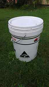 20L white Buckets with lids $3 each!!  20+ buckets left Thornlands Redland Area Preview