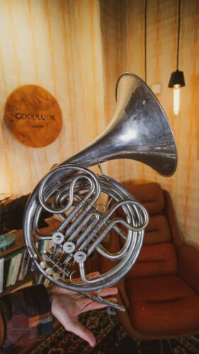 French Horn Vintage Original USSR Soviet Brass Musical Wind Instrument