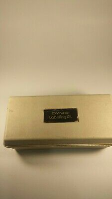 Vintage Dymo 1570 Tapewriter Label Maker W Case 2 Extra Embossing Wheels