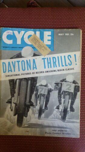 Cycle May 1951 Motorcycle Magazine
