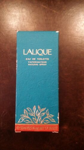 VINTAGE LALIQUE PERFUME FULL BOTTLE WITH BOX FREE SHIPPING