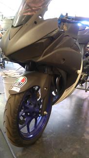 Yamaha r3 track bike swap for supermoto