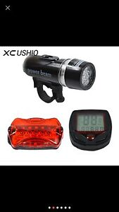 Bicycle Speedometer and 5 LED Mountain Bike cycling light