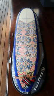 """Deluxe longboard. 9'2"""" × 23 """" × 3 """" Great for the points."""