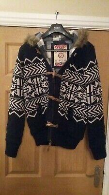 Mens medium wool jacket with fur hood in size medium segunda mano  Embacar hacia Spain